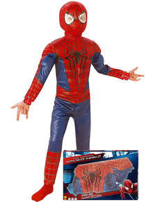 The Amazing Spiderman 2 costume for a child in a box