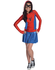 Spidergirl dress costume for a girl