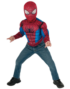 Boys Muscular The Amazing Spiderman 2 Costume Kit